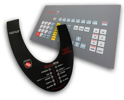 Control Panel Stickers, Graphic Overlays & Machine Panel Fascias