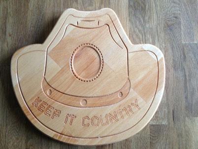 Brotzeitbrett Cowboyhut