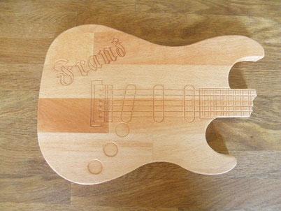 Brotzeitbrett Gitarre
