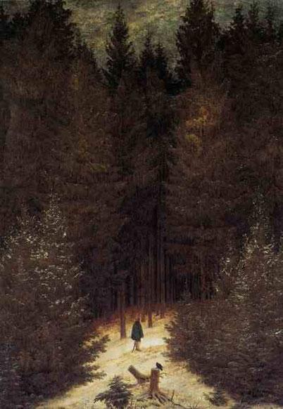 Егерь в лесу. 1814