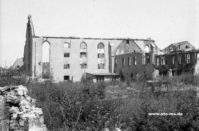 Ruine der Georgskommende 1947
