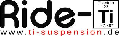 Ride-Ti, Titan Federn und Schrauben Banner, Ti-suspension