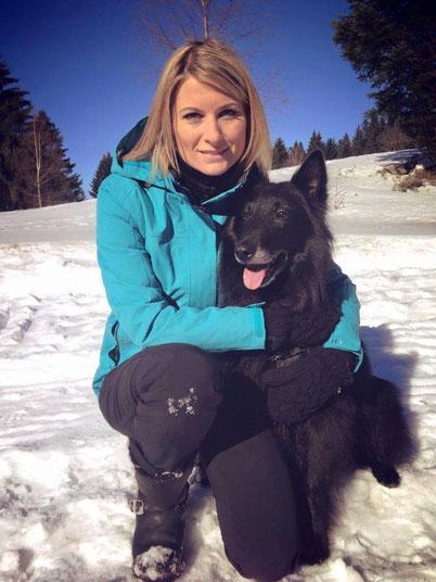 sandrine arcizet chien neige