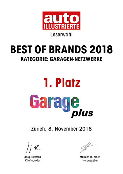 Bildergebnis für best of Brands 2018 garage plus