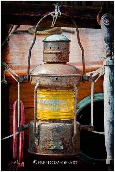 Vintagelight - alte Backbordfunzel an Bord