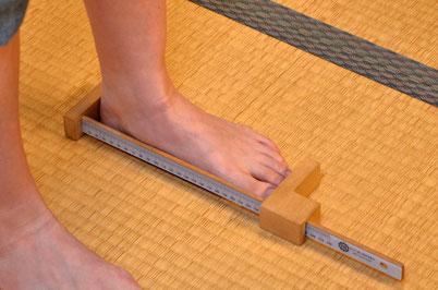 自分の足の特徴が知れる計測コース(550円)ございます
