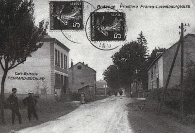 1910 - Grenze Luxemburg - Frankreich