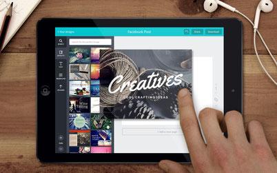 créer ses outils de com en 3 clics avec Canva