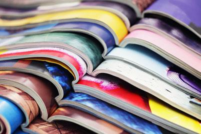 Architekturfachzeitschriften Stapel