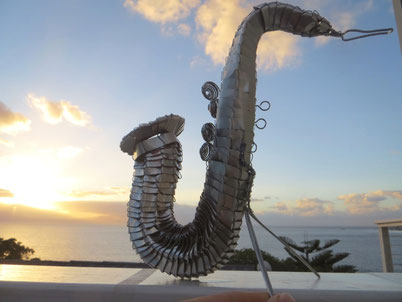 Upcycling Dekoration kaufen, Geschenkidee, Deko Saxophone, Instrument