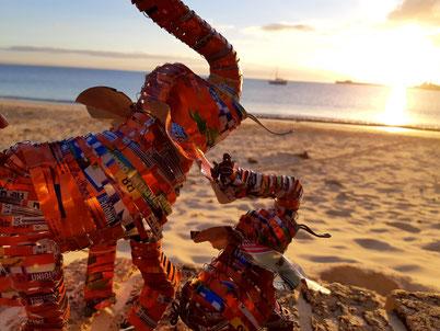Upcycling Dekoration kaufen, Geschenkidee, Deko Elefanten