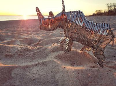 Upcycling Dekoration kaufen, Geschenkidee, Deko Nashorn