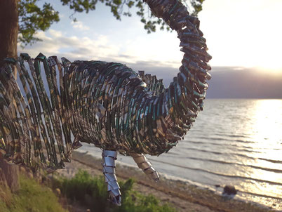 Upcycling Dekoration kaufen, Geschenkidee, Deko Elefant