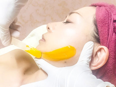 毛穴を引き締める美白・美肌脱毛 ビタミンフードフェイシャルトリートメントwax|福井エステ_プリティーウーマン