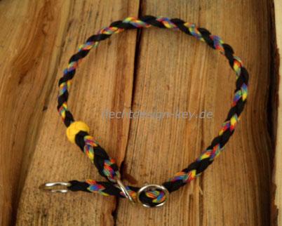 Halsband verstellbar mit Zugstopp, rund geflochten