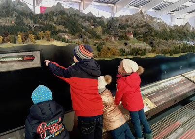 Modell der Gotthard-Bahn