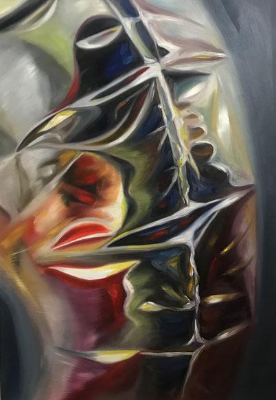 Apparition, 2021, Öl auf Leinwand, 100x 70 cm
