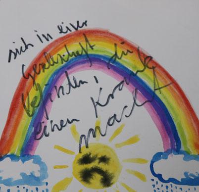 Gebt mir Ketamin, feltpen & watercolour on paper, 20x20cm, 2016