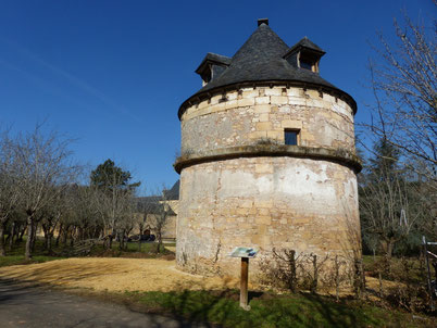 Le pigeonnier du château de Sauveboeuf