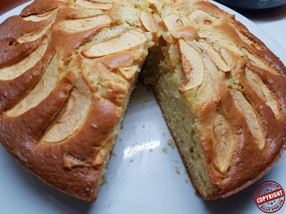 recette gâteau pommes mascarpone sans gluten