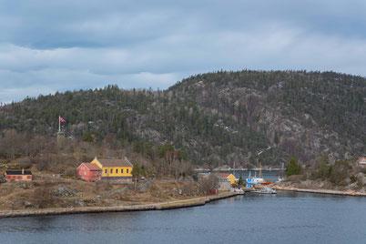 Insel Oscarsborg mit ehemalige Militärfestung von 1850