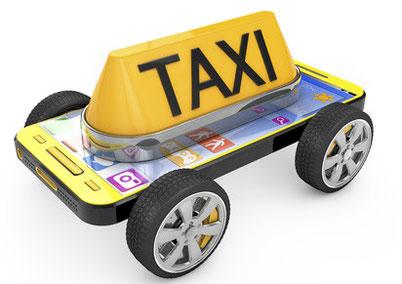 Laden Sie sich die taxi.eu-APP auf Ihr Handy