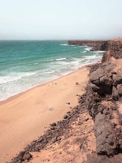 sandy beach on Fuerteventura Canary island
