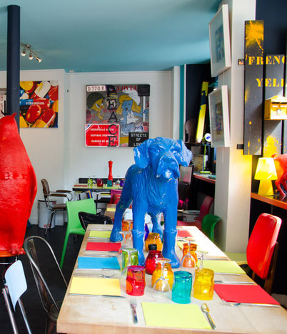 уникальный ресторан в Париже в художественной галерее