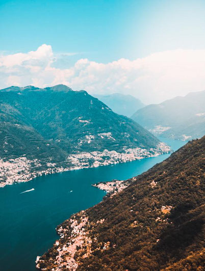 amazing views of the Lake Como from above