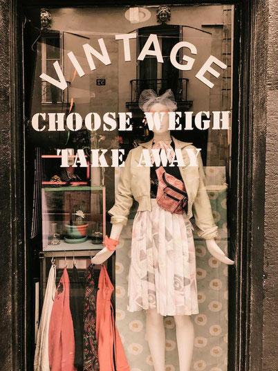 Paris Kilo shop - a cool vintage store in Le Marais