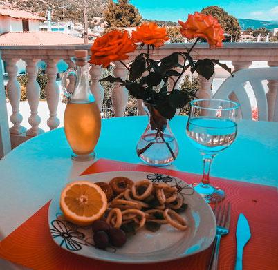 homemade lunch: fried calamari