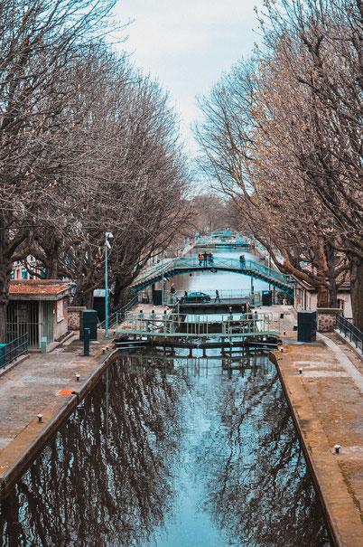 мосты канала Сен Мартен в Париже