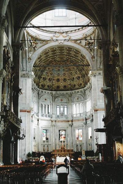 Inside of the Duomo of Como