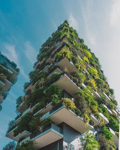вертикальный сад в Милане