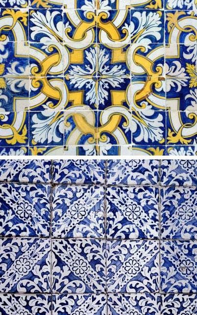Portuguese tiles azulejos in Lisbon
