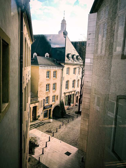 View inside the old quarter of Luxembourg city