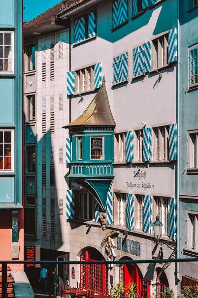 colorful and unique Zurich architecture