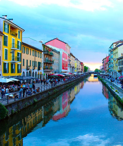 прогулка по каналам Милана Navigli