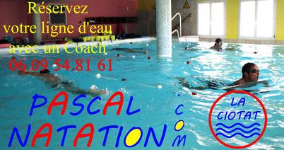 Nager librement et Balnéo à La Ciotat avec Pascal Natation en piscine privée