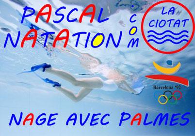 Nage avec palmes à la Ciotat à la piscine Pascal Natation