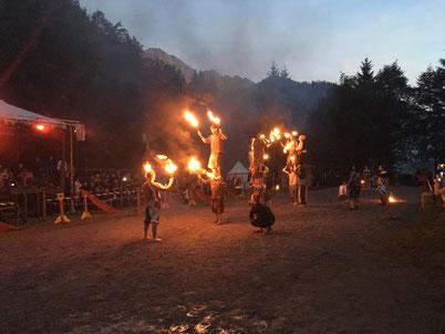 Fire show at Zeitreise / Ritterspiele (= Time travel)