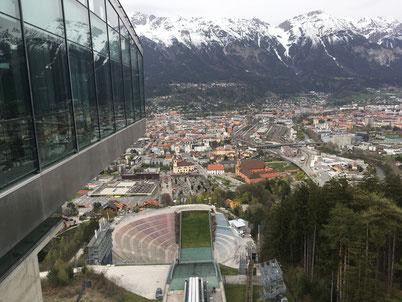 Zaha Hadid ski jump in Innsbruck