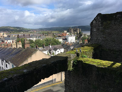 Conwy castle wall: The overview you get from there.