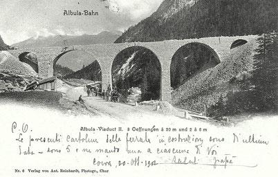 Nr. 6, Ant. Reinhardt, Photogr. Chur, gestempelt 30.10.1902