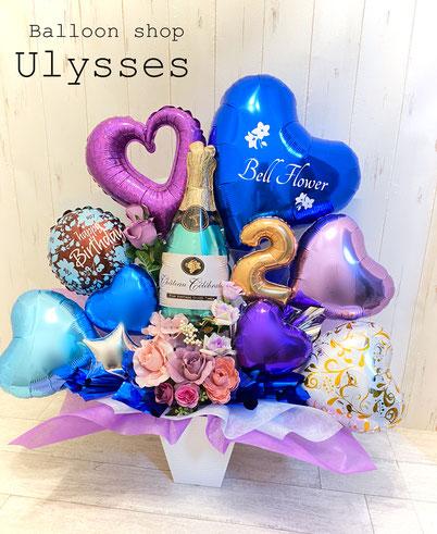 開店祝い 周年祝い バルーンギフト バルーンアート バルーンブーケ 誕生日 花束バルーン 周年祝い 卓上 バルーンショップユリシス