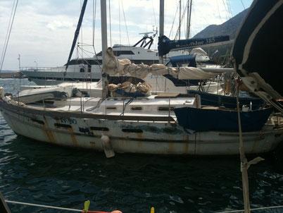 Interessantes Fischerboot auf Astakos