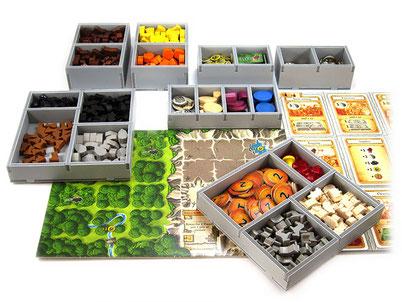 Caverna insert organizer organiser board game foamcore