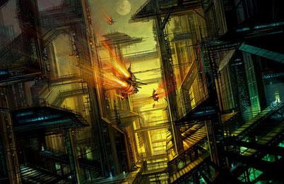 города будущего иллюстрация