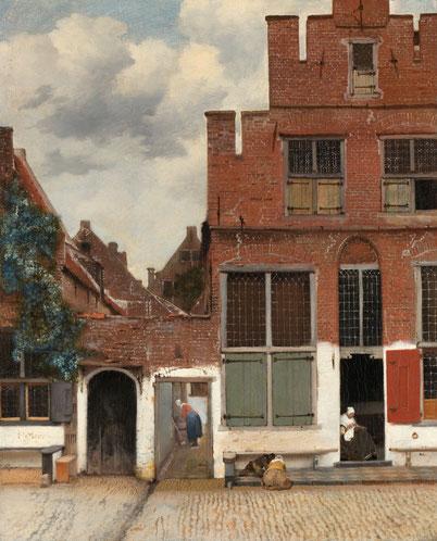 """Jan Vermeer, """"Stradina di Delft"""" (1657-1658)"""