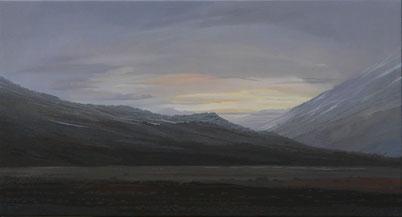 """Martin Guido Becker, """"Skandinavische Landschaft"""", Öl/Lwd, 70/130 cm"""